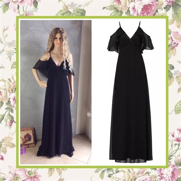 9e86f58afa41 Unique Styles dresses Dresses | Black Dress Long Tall Maxi Cold ...